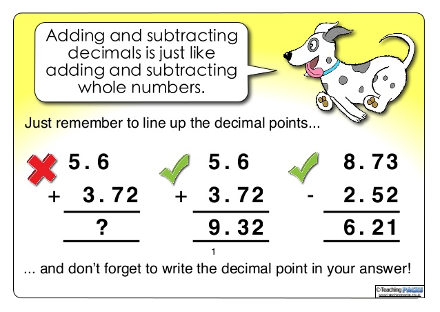 Unit 2: Addition & Subtraction with Decimals - Mrs. Paver's Class